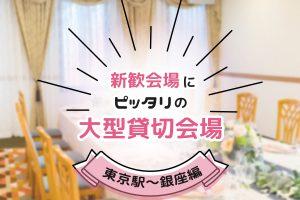 新歓会場にピッタリの大型貸切宴会場・東京駅~銀座編